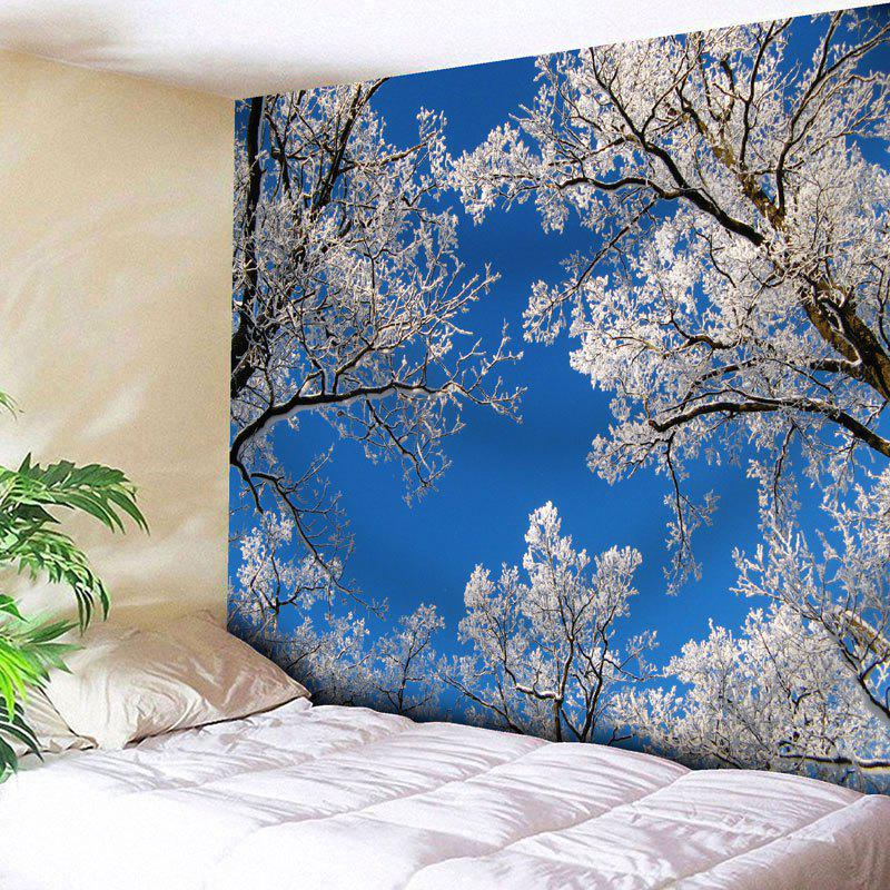Sky Tree Branch Wall Decor Tapestry - BLUE W91 INCH * L71 INCH