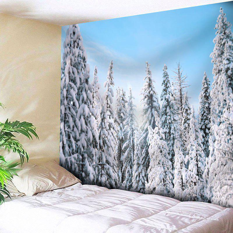 Wall Decor Snowscape Bedroom Tapestry - CLOUDY W91 INCH * L71 INCH