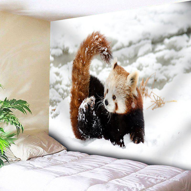 Snowscape Wall Decor Animal Tapestry - WHITE W79 INCH * L59 INCH