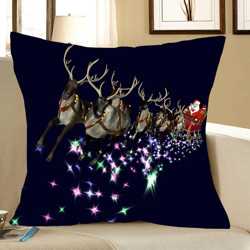 Christmas Carriage Printed Linen Pillow Case linen christmas snowman printed home decor pillow case