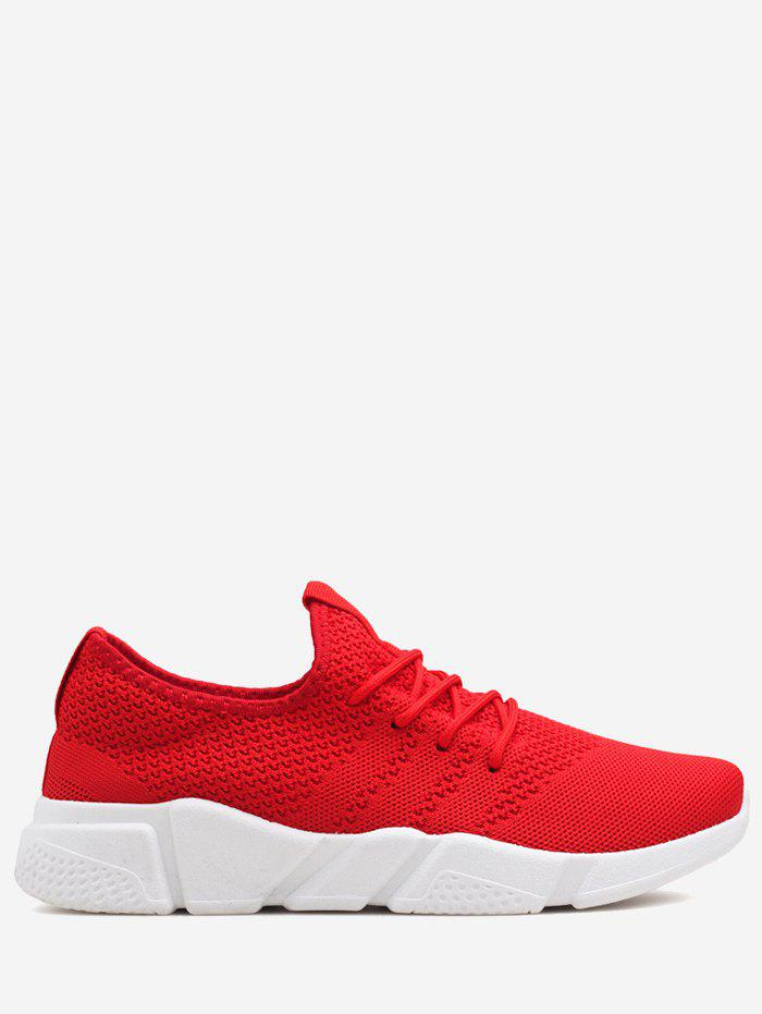 Low Top Breathable Mesh Sneakers - RED 42