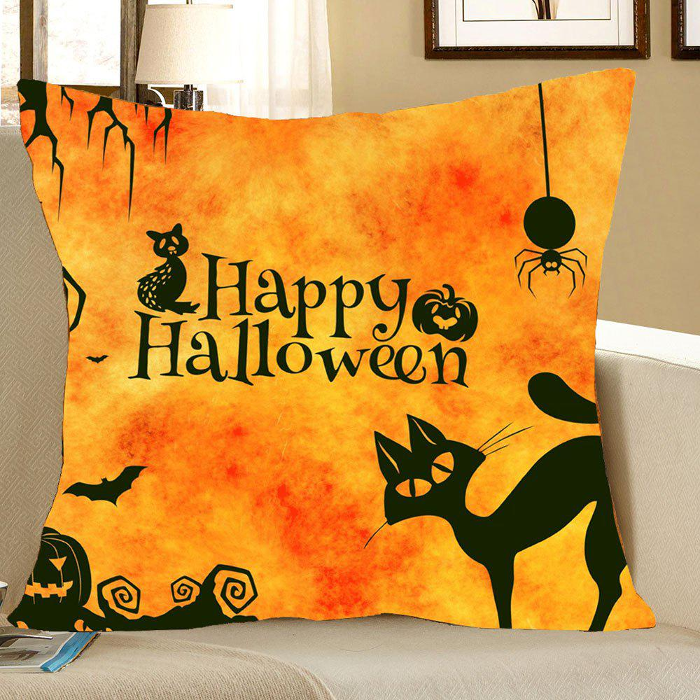 Halloween Cat Printed Decorative Pillow Case handpainted birds and leaf branch printed pillow case