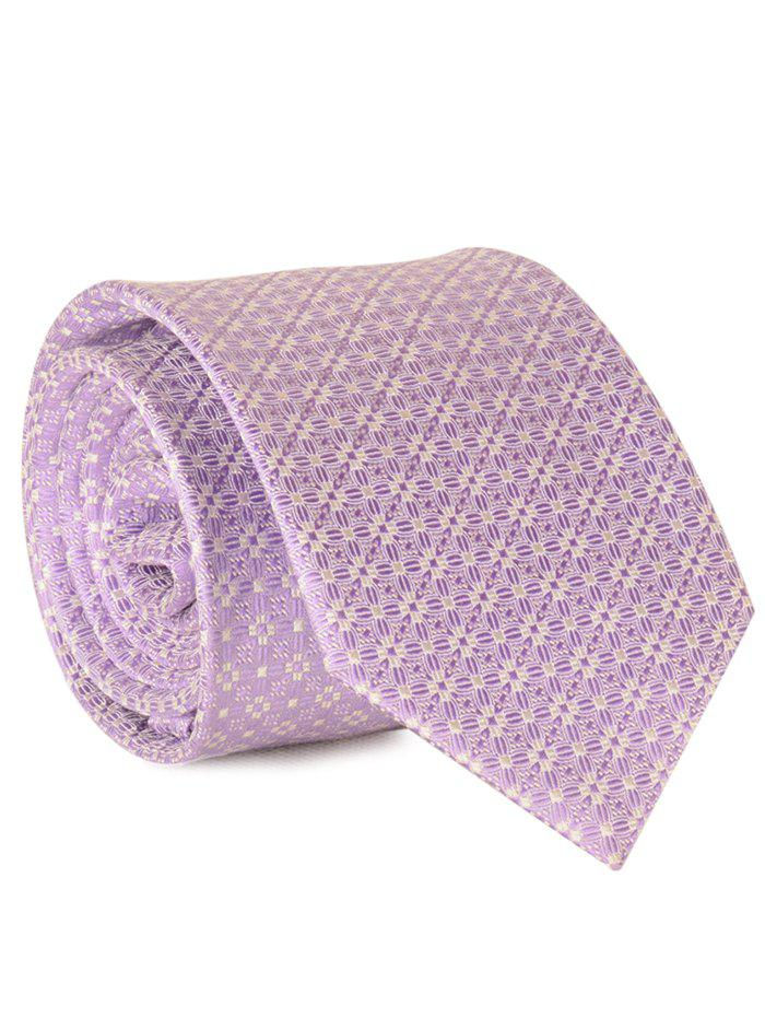 Cravate Jacquard Floral Tiny De 7CM - ROSE PÂLE