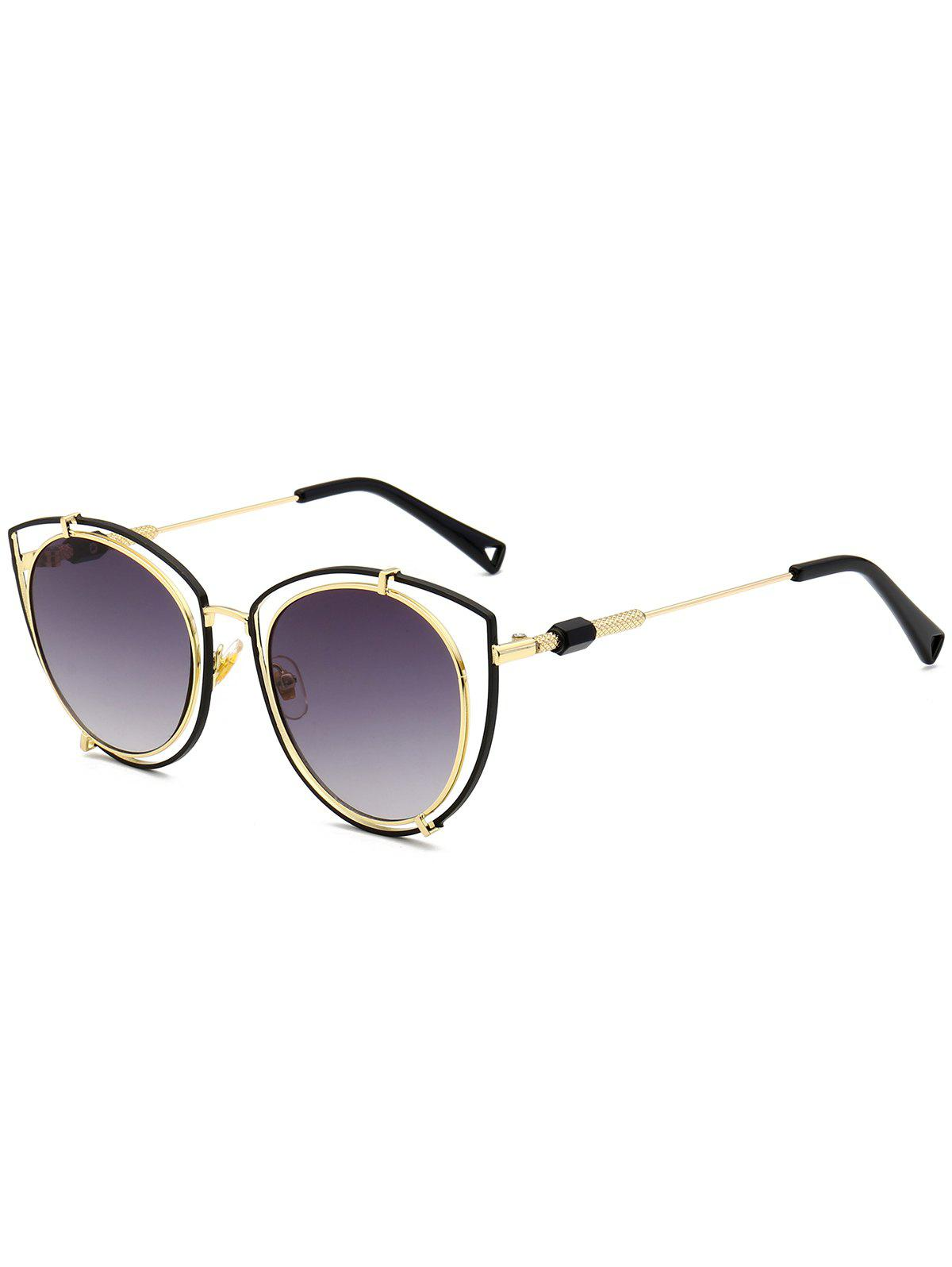 Hollow Out Double Frame Cat Eye Sunglasses clear frame cat eye glasses