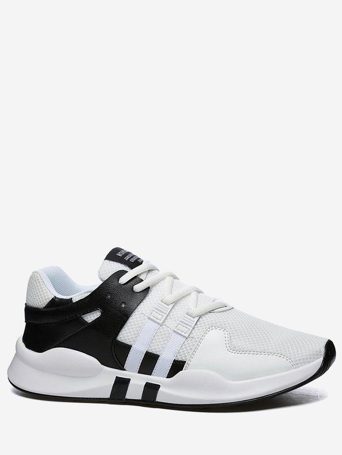 Colorblock Breathable Mesh Sneakers - BLACK WHITE 41