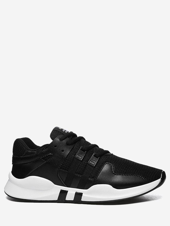 Colorblock Breathable Mesh Sneakers - BLACK 42
