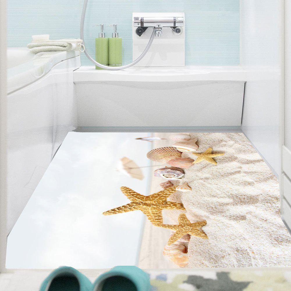 Starfish Beach Pattern Multifunction Wall Sticker - COLORMIX 1PC:24*71 INCH( NO FRAME )