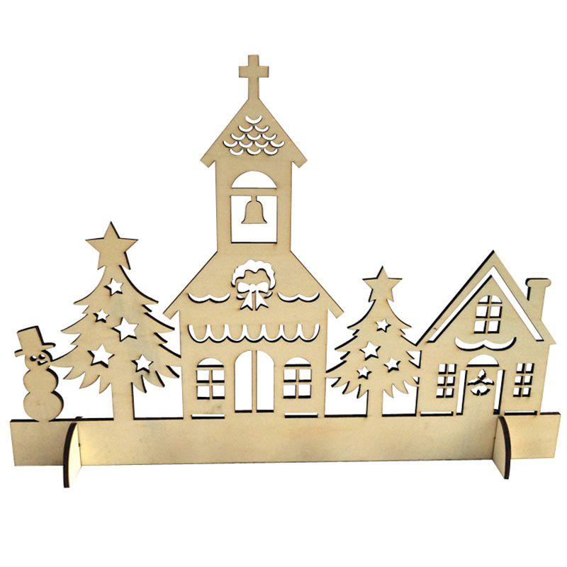 DIY Christmas Decorations Wooden House Tree - WOOD