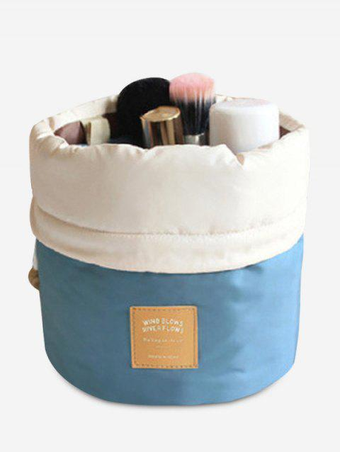 Drawstring Round Travelling Cosmetic Bag - BLUE