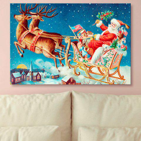 Canvas Prints Wall Art Christmas Sled Painting - BLUE 1PC:31*47 INCH( NO FRAME )