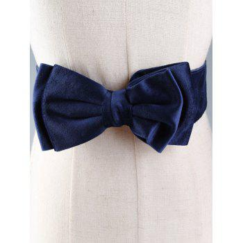 Vintage Bowknot Embellished Streth Waist Belt -  PURPLISH BLUE