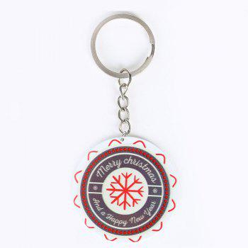 Metal Round Christmas Snowflake Key Chain - COLORMIX COLORMIX
