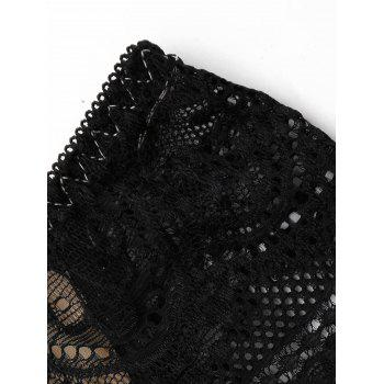 Lace Mesh Sheer Panties - BLACK ONE SIZE