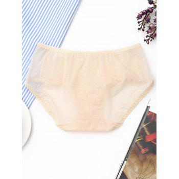 Lace See Through Mesh Panties - LIGHT APRICOT ONE SIZE