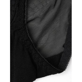 Lace See Through Mesh Panties - BLACK ONE SIZE