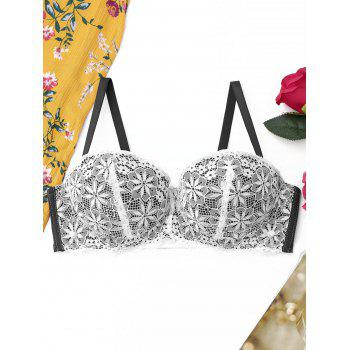 Lace Full Cup Push Up Bra - BLACK 80A