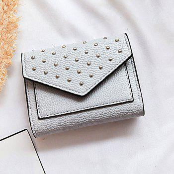 Triangle Geometric Rivets Wallet -  GRAY