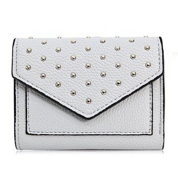 Triangle Geometric Rivets Wallet - GRAY GRAY
