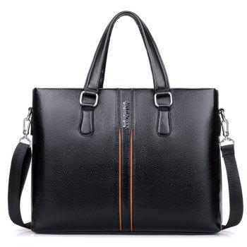 Top Handle Letter Color Block Handbag - BLACK BLACK
