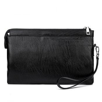 Faux Leather Zip Wristlet Bag