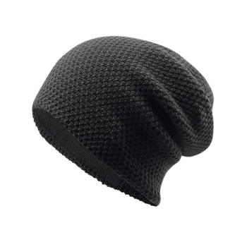 Outdoor Thicken Knit Lightweight Beanie -  BLACK