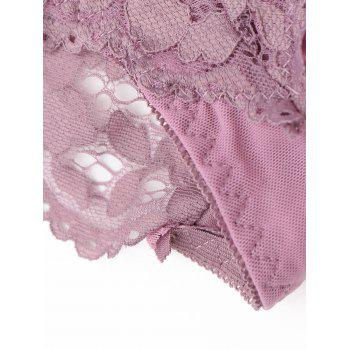 Sheer Lace Low Waist Panties - ONE SIZE ONE SIZE