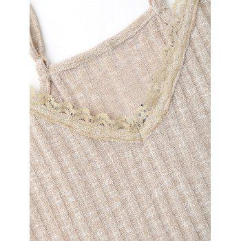 Embroidered Ribbed Knit Cami Top - S S