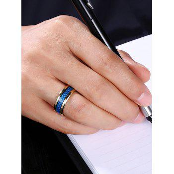 Weaving Pattern Metal Ring - GOLDEN 7