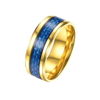 Weaving Pattern Metal Ring - GOLDEN 10