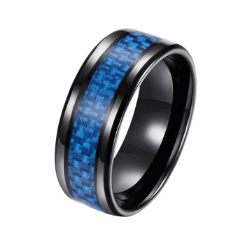 Weaving Shape Embellished Alloy Ring - BLUE 7