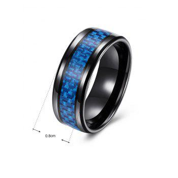 Weaving Shape Embellished Alloy Ring - BLUE BLUE