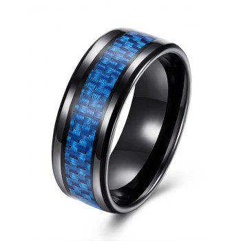 Weaving Shape Embellished Alloy Ring - BLUE 8