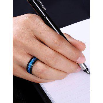 Weaving Shape Embellished Alloy Ring - BLUE 9