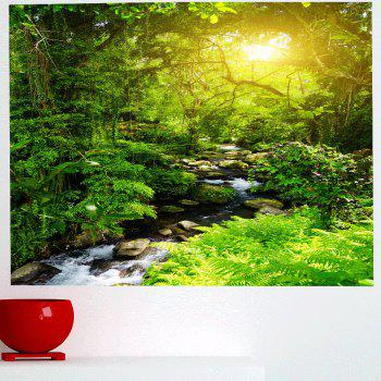 Forest Stream Pattern Wall Art Decorative Sticker - GREEN 1PC:24*35 INCH( NO FRAME )