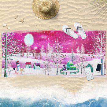 Snowscape Christmas Water Absorption Bath Towel