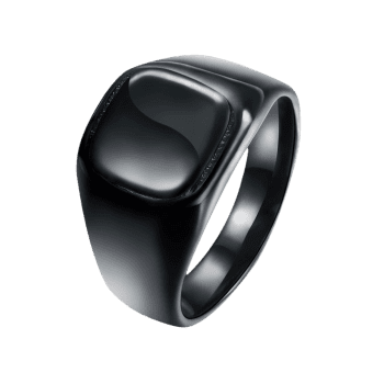 Geometric Round Finger Ring - BLACK 9