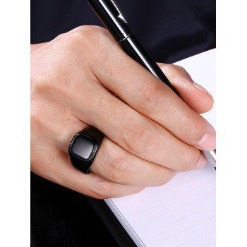 Geometric Round Finger Ring - BLACK 10