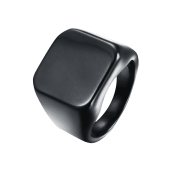 Alloy Geometric Finger Ring - BLACK 8