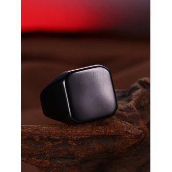 Alloy Geometric Finger Ring - BLACK 10