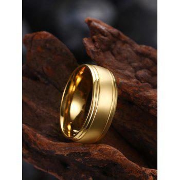 Alloy Circle Finger Ring - Or 8
