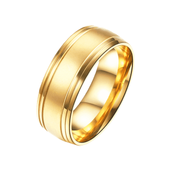 Alloy Circle Finger Ring - GOLDEN GOLDEN