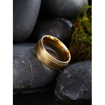 Alloy Circle Finger Ring - Or 10