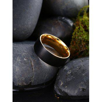 Vintage Alloy Circle Finger Ring - GOLDEN 9