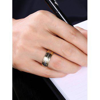 Two Tone Round Finger Ring - 7 7