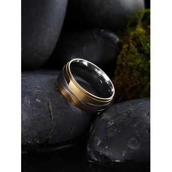 Two Tone Round Finger Ring - GOLDEN GOLDEN