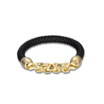 Link Chain Metal Weaving Bracelet - GOLDEN GOLDEN