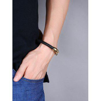 Link Chain Metal Weaving Bracelet -  GOLDEN