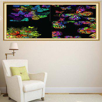 Wall Art Colorful Butterflies Patterned Decorative Multifunction Painting - COLORFUL 1PC:24*35 INCH( NO FRAME )