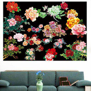 Peonies Patterned Multifunction Decorative Wall Art Sticker - Coloré 1PC:39*39 INCH( NO FRAME )