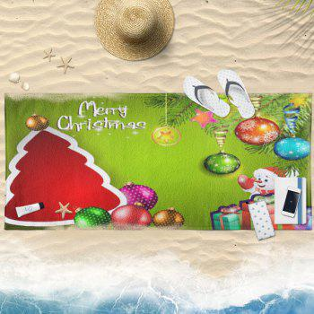 Christmas Tree Pattern Water Absorption Bath Towel